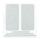 Carbon Fiber Grain Back & Front Decoration Paper Sticker for iPhone 4 - Silver Grey