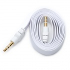 Flat 3.5mm Male to Male Audio Cable - White (105cm)