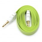 Flat 3.5mm Male to Male Audio Cable - Green (105cm)