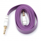 Flat 3.5mm Male to Male Audio Cable - Purple (100cm)