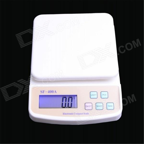 SF-400A 2.7 LED Digital Kitchen Scale - White + Ivory (2 x AA) 50g 0 001g digital electronic scale 0 001g precision touch lcd digital jewelry diamond scale laboratory counting weight balance