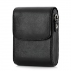 Protective PU Leather Camera Case Bag w/ Strap for Sony Digital Cameras - Black