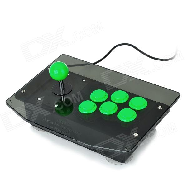 DIY Arcade Joystick Controller for PC/PS2 - Green + Black (160cm-Cable) gaming arcade console usb joystick arcade buttons kit double joystick console with flash light support hdmi vga