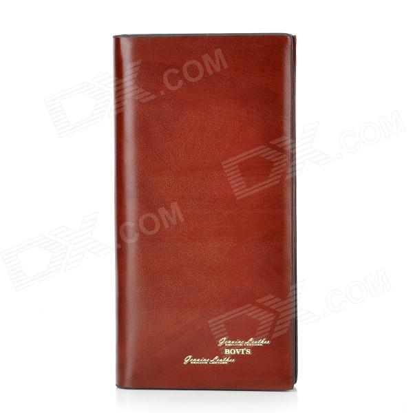 BOVIS 5102#03 Casual Man's PU Credit Name Card Wallet / Slots - Saddle Brown