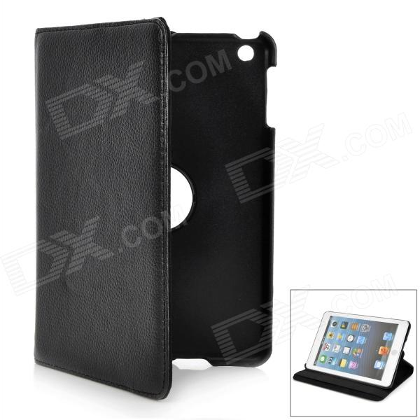 Protective Swivel 360 Degree Rotation PU Leather Case for Ipad MINI - Black levett caesar prostate massager for 360 degree rotation g spot