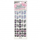 GR-035 30-in-1 Multi-Pattern 3D Glittery Colorful Nail Stickers Sheet