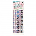 GR-038 30-in-1 Grills Pattern 3D Glittery Colorful Nail Stickers Sheet