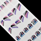 GR-045 3D Break Line Pattern Glittery Nail Stickers (30 PCS)
