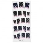 GT-024 3D Wave Point Pattern Glittery Nail Stickers (19 PCS)