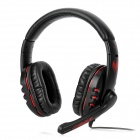 Somic G923 Stylish Game Headphone w/ Microphone - Black + Red (3.5mm Plug / 220cm)