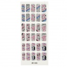 GR-059 3D animal bonito Pattern Glitter Nail Stickers (30 PCS)