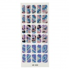 GR-056 3D Geometry Pattern Glitter Nail Stickers (30 PCS)