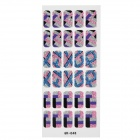 GR-046 3D Geometry Pattern Glitter Nail Stickers (30 PCS)