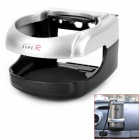 TYPE R Car Air Condition Vent Drink Holder - Silver + Black