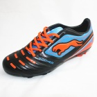 Panther Sports Football Soccer Shoes - Black + Blue + Orange (Pair)