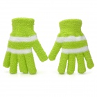 Fashion Plush Warmer Glovers for Adults - Green Yellow (Pair)