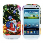 Colorful Santa Claus Pattern Protective Silicone Case for Samsung i9300 Galaxy S3