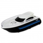 "Speedboat Stil 1,2 ""Screen 2-Kanal Media Player Speaker w / TF / FM / LED - White + Black"