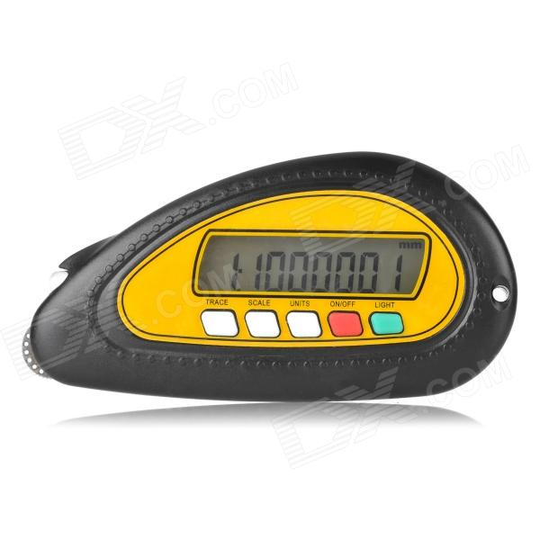 Digital 1.6 Screen Map Distance Measurement Meter - Black + Yellow (1 x CR2032) sound activated 433 92mhz 1 to 1 wireless key finder blue black 1 x cr2032
