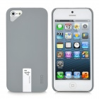 Creative Protective Plastic Back Case w/ 4GB USB Flash Drive for iPhone 5 - Grey