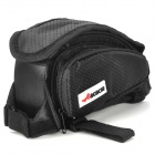 ACACIA 13518 Cycling Bicycle Bike Front Tube Bag w/ Side Bags - Black