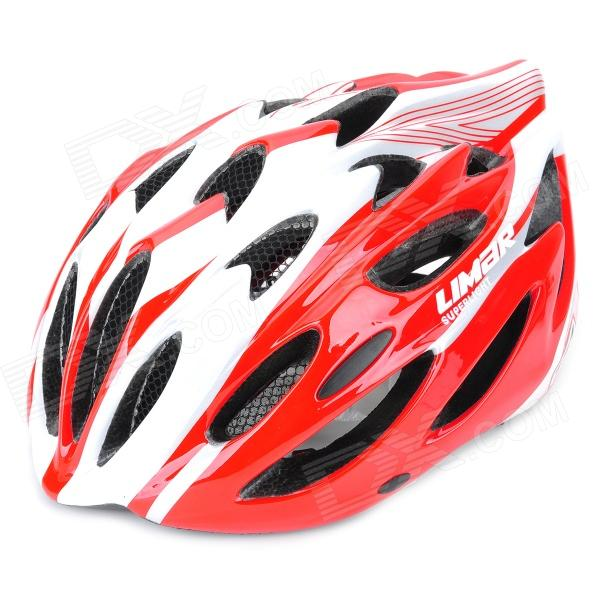 LIMAR 777 Cycling Road Bike PC + EPS Helmet w/ Insect Net + Dial Anti-Clockwise - Red