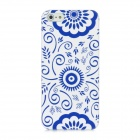 Newtons Sunflower Pattern Plastic Back Case for Iphone 5 - Blue + White