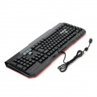 Ajazz K901 USB 113-Key Wired Keyboard w/ Two-Color Backlight - Black