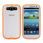 Newtons Edge Glow in the Dark Ripple Design Protective PC Back Cover Case for Samsung i9300 - Orange