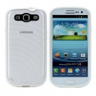 Newtons Edge Glow in the Dark Ripple Design Protective PC Back Cover Case for Samsung i9300 - White