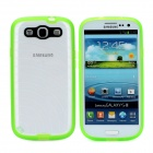 Newtons Edge Glow in the Dark Ripple Design Protective PC Back Cover Case for Samsung i9300 - Green