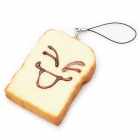 Emulation Toast Bread Laugh Style Pendant with Strap