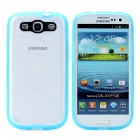 Newtons Edge Glow in the Dark Ripple Design Protective PC Back Cover Case for Samsung i9300 - Blue