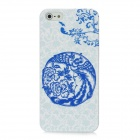 Newtons Blue and White Porcelain Phoenix Pattern Plastic Back Case for Iphone 5