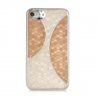 Newtons Protective Plastic Back Case for Iphone 4 / 4S - Light Brown + Off White
