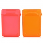 "Databus BOX351 3.5"" HDD Plastic Cases Set - Red + Orange + Blue + White + Grey + Green (6 PCS)"