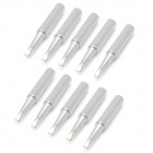 Professional 900M-T-2.4D Lead-Free Soldering Iron Tips - Silver (10 PCS)