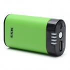 SSK SRBC506 External 5000mAh Emergency Mobile Power Battery Charger for Cell Phone - Green + Black