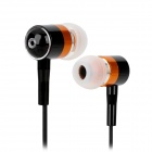 GENIPU BSP-58 Stilvolle In-Ear Earphones - Black + Orange (3,5 mm Klinkenstecker / 120cm)
