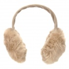 Folding Rabbit Hair Warm Earlap - Light Brown