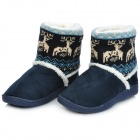 Fawn теплый женский Snow Boots - Ming Blue (размер 37)