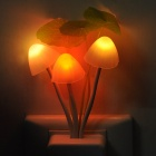 Light Sensor Activated 0.2W 3-LED Colorful Light Night Lamp