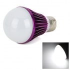 E27 5W 270lm 6500K Weiß 10-SMD 5730 Dimmen Light Bulb - Purple (AC 85 ~ 265V)