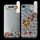 3D Santa Claus Driving Reindeer Design LCD Screen Protector Film for Iphone 4S