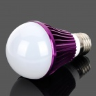 Einstellbare E27 5W 90 ~ 270lm 7000K 10-SMD 5730 LED White Light Bulb - Purple + Weiß