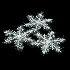 Christmas Foam Snowflakes Decoration - White (3 PCS)