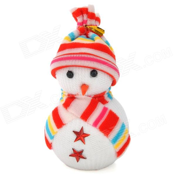 Christmas Cute Snowman Decoration - White + Red
