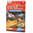 Super Space Aircraft Style DIY 3D Paper Foam Puzzle - Multicolored