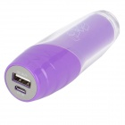 Portable External 2200mAh Emergency Mobile Power Battery Charger for Cell Phone - Purple