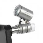 60X Zoom LED Micro Lens Microscope w/ Protective Case for Iphone 4 / 4S - Black + Silver